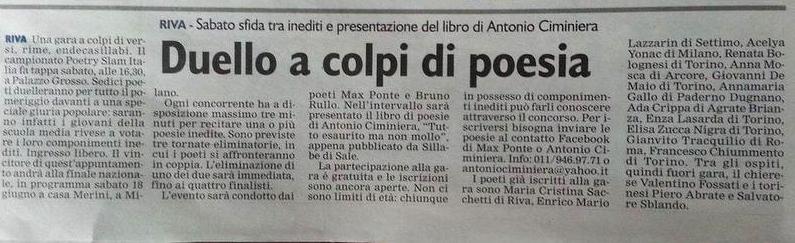 poetry slam articolo