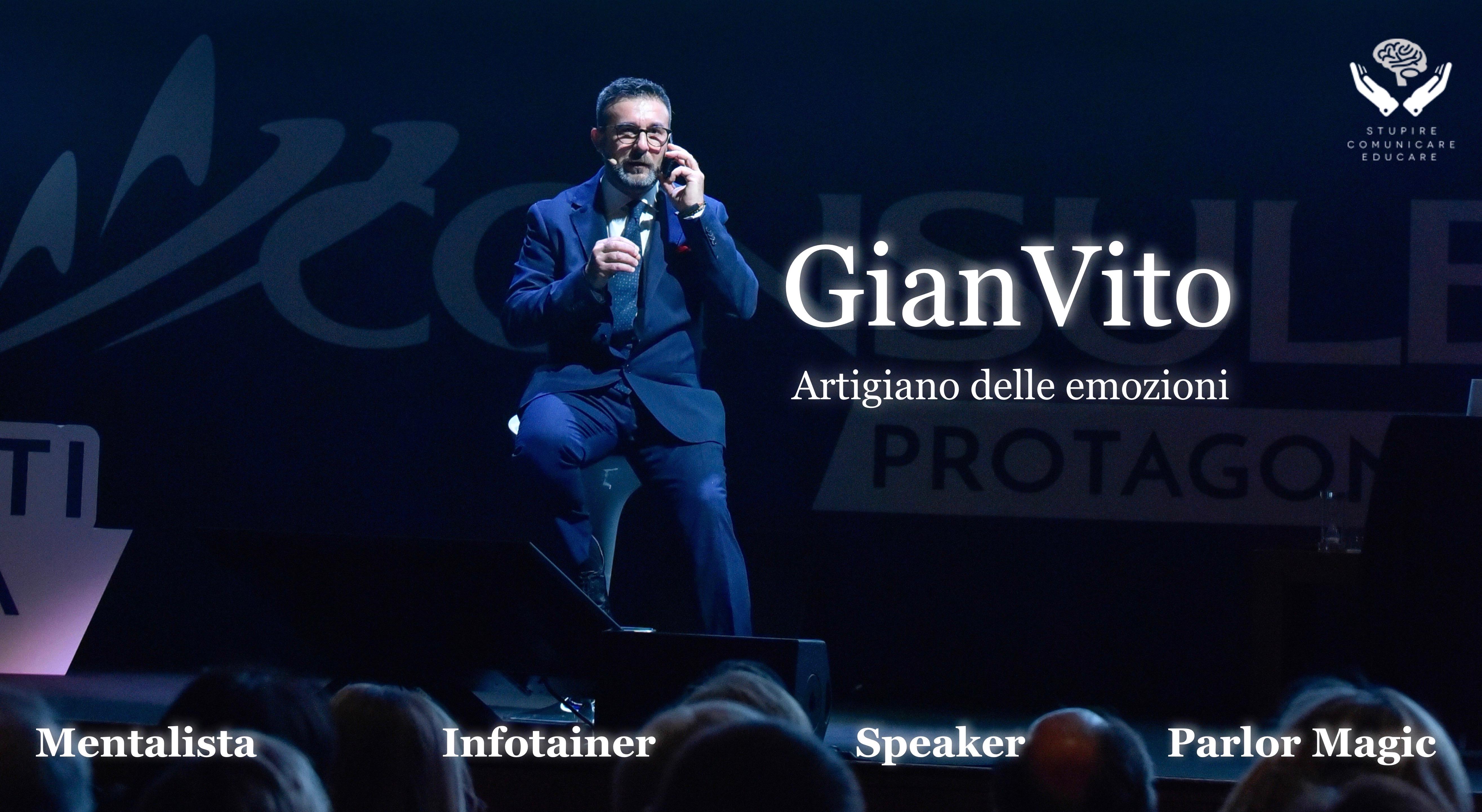 Intrattenimento di magia evento aziendale: Gianvito Mentalista & Infotainer